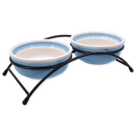 Magic cat keramična posoda s stojalom, modra