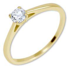 Brilio Nežný zásnubný prsteň zo zlata 226 001 01035 žlté zlato 585/1000