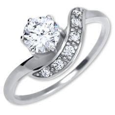 Brilio Silver Srebrni zaročni prstan 426 001 00534 04 srebro 925/1000