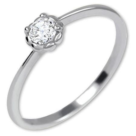 Brilio Zlaten prstan iz zlata 226 001 01034 07 (Obseg 49 mm) Belo zlato 585/1000