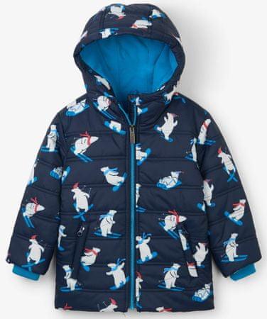 Hatley fantovska bunda z severnimi medvedi na smučeh, modra, 98