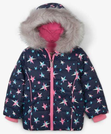 Hatley dekliška zimska jakna z zvezdicami, 92, roza/modra