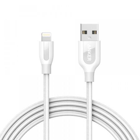 Anker kabel Powerline+ Lightning, 1,8 m, bel