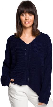 BeWear BK026 ženski pulover, univerzalna velikost, temno moder