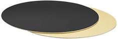 Decora Podložka pod dort červe zlatá kulatá 24cm 1ks