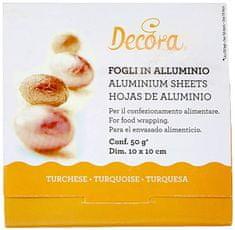 Decora Fólie pro balení čokolád - oranžová 10x10cm 150ks