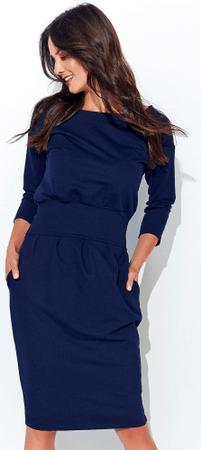 Numinou dámské šaty NU_nu107 44 tmavě modrá