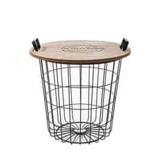 TEMPO KONDELA Příruční stolek NANDO, přírodní/černá