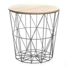 TEMPO KONDELA Příruční stolek NANCER, přírodní/černá
