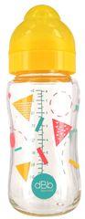 DBB Remond Otroška steklenička Geometrie, s silikonskim cucljem, 240 ml, 0-4m