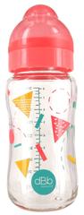 DBB Remond Dječja bočica Geometrie, sa silikonskom dudom, 240 ml, 0–4 m