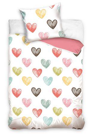 BedTex Bavlněné povlečení Color Hearts