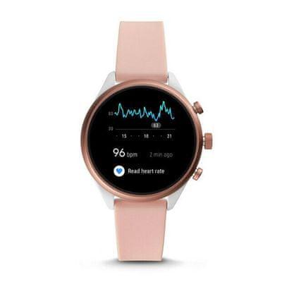 smartwatch fossil FTW6022 m ios android różowy wodoodporny funkcje fitness Bluetooth nfc google pay sterowanie głosem wi-fi budzik messenger powiadomienia