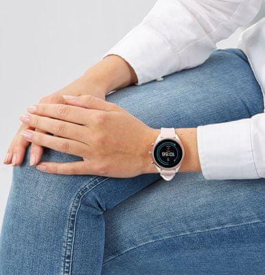 smartwatch fossil FTW6022 m ios android silikon wodoodporny funkcje fitness Bluetooth nfc google pay sterowanie głosem