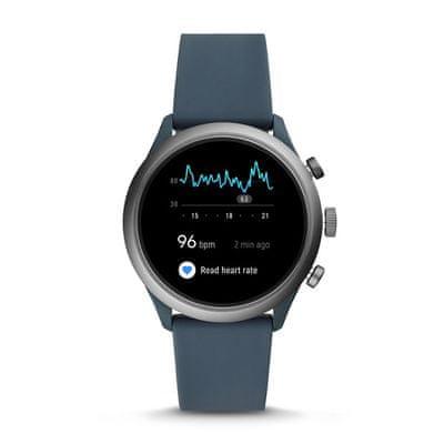 chytré hodinky smartwatch fossil FTW4021 m ios android růžová odolné vodě fitness funkce Bluetooth nfc google pay hlasové ovládání wifi budík messenger notifikace