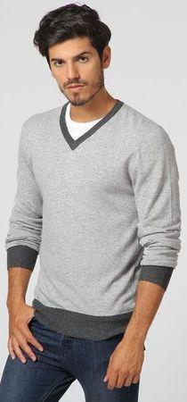 William de Faye moški pulover WFM17, XXL, siv