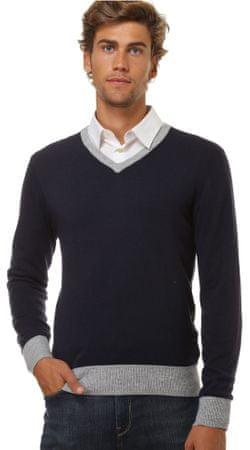 William de Faye moški pulover WFM17, XXL, temno moder