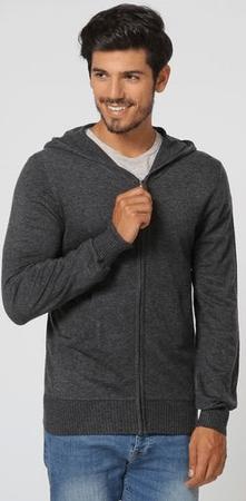 William de Faye moški pulover BO104, M, temno siv