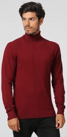 William de Faye moški pulover WFM12_1, M, bordo rdeča