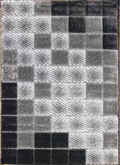 Berfin Dywany Kusový koberec Seher 3D 2615 Black Grey