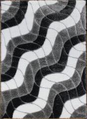 Berfin Dywany Kusový koberec Seher 3D 2616 Black Grey