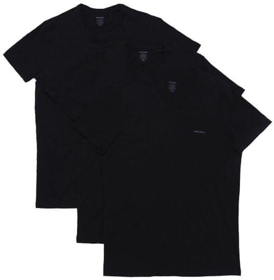 Diesel trojité balenie pánskych tričiek Jake XL čierna