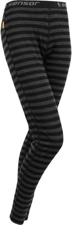 Sensor Merino Active žensko donje rublje, crno-sive prugaste, L