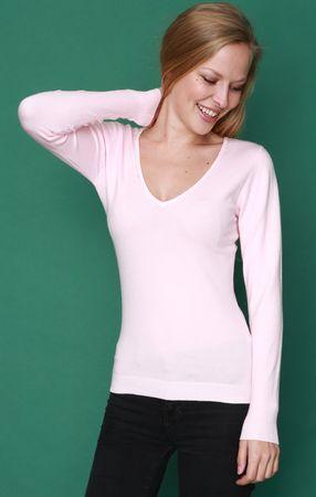 William de Faye dámsky sveter WF310_1 S svetlo ružová