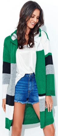 Numinou NU_nu95 ženska dolga jopica s kapuco, univerzalna velikost, zelena