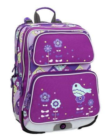 Bagmaster Holčičí školní batoh do první třídy Bagmaster GALAXY 6 A VIOLET/BLUE