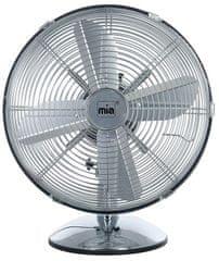 Miatec VLO6010, namizni ventilator, retro, srebrn