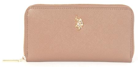 U.S. POLO ASSN. Jones Large zip around wallet női pénztárca világos rózsaszín