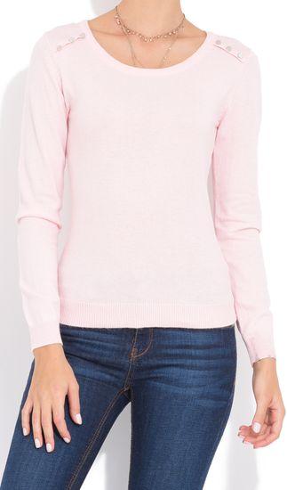 William de Faye dámský svetr WF508 XL světle růžová