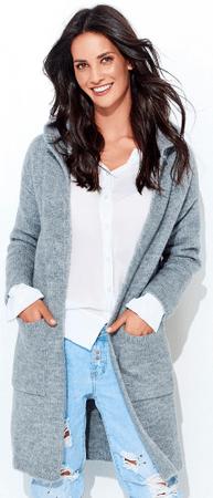 Numinou dámsky sveter NU_s34 uni sivá