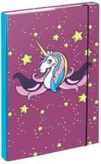 BAAGL teczka na zeszyty szkolne A4 Unicorn