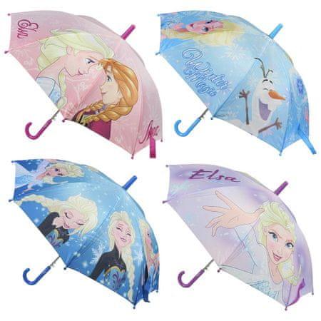 Disney dívčí deštník Frozen 45 světle modrá