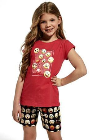 Cornette Piżama dziewczęca 787/64 Kids Emoticon, różowy, 122/128