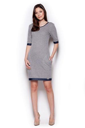 Figl Sukienka damska M348 dark grey, szary, XL