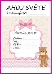 KidPro Milníkové kartičky Medvídek pro holčičku