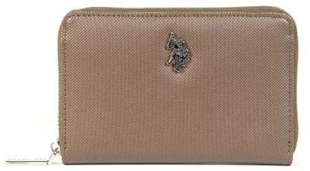 U.S. Polo Assn. Portsmouth Medium zip around ženska denarnica z zadrgo, rjava