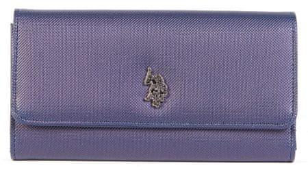 U.S. Polo Assn. Portsmouth Large Flap wallet ženska denarnica, modra