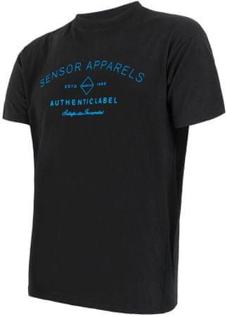 Sensor Merino Active Pt Label Férfi póló rövid ujjú Fekete L