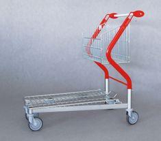 Polidar Transportní nákupní vozík Vario 90 s pevným košem