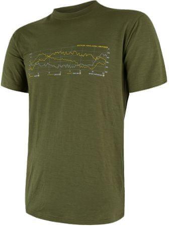Sensor koszulka męska Merino Active Pt Track z krótkim rękawem Safari L