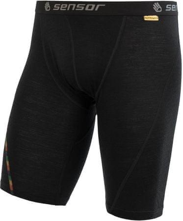 Sensor Merino Air moške kratke spodnje hlače Long, L, črne
