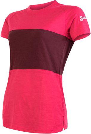 Sensor Merino Air PT ženska majica, roza/rdeča, L