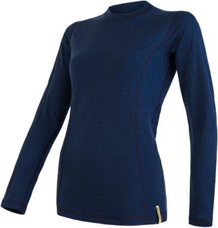 Sensor ženska športna majica Merino, dolg rokav, Deep Blue, L