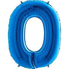 Grabo Nafukovací balónek číslo 0 modrý 102cm extra velký