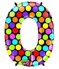 Grabo Nafukovací balónek číslo 0 barevný 102cm extra velký