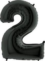 Grabo Nafukovací balónek číslo 2 černý 102cm extra velký
